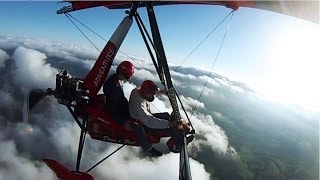 preview picture of video 'Voo de Trike - Santa Rosa/RS à Santo Cristo/RS e sobre nuvens (3.000 FT - 3.000 pés)'