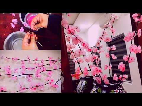 , title : 'DIY / CANDLE WAX FLOWERS / Wax Flower | Easy Candle Flower Making | Artificial Flower Tree