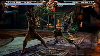 Soulcalibur 6 - Geralt vs Yoshimitsu High Level Gameplay & Yoshimitsu Soul Edge (Finisher)