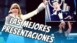 Taylor, Rihanna, Bruno, Justin Presentaciones de los Grammys 2013!