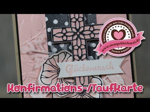 Tutorial: Konfirmationskarte/Taufkarte mit Produkten von Stampin' Up!