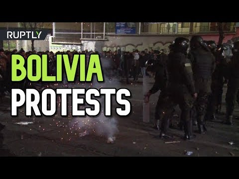 Protesters clash with police as Bolivia opposition candidate contests election