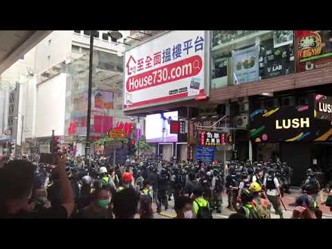 Hong Kong protest May 27, 2020.