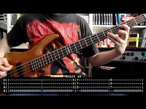 MANOWAR - Number 1 (bass cover w/ Tabs)