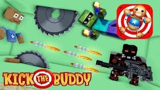 Monster School : FUNNY KICK THE BUDDY CHALLENGE - Minecraft Animation