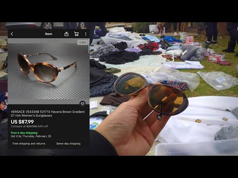 $9 Versace Sunglasses Found In A Bucket | The Treasure Hunt #5