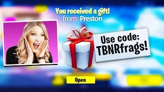 Gifting Fortnite Skins To YouTubers