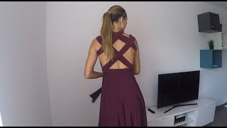 Multiway, Convertible Dress Wearing Bra