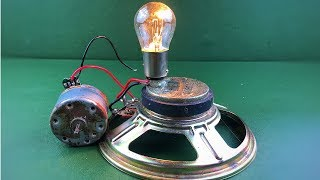 Free Energy Generator With Speaker Magnet & DC Motor , Homemade Science Technology 2018