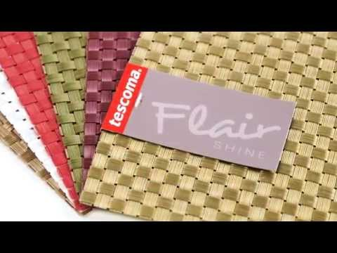 Video TESCOMA prostírání FLAIR SHINE 45x32 cm, zelená 2