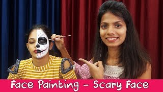 Face Painting Tutorial | Horror Face Painting | Halloween Face Painting Ideas | How To Face Paint