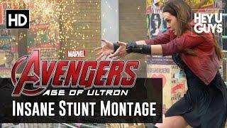 Avengers: Age Of Ultron INSANE Stunts Montage (Hemsworth, Johansson, Olsen, Evans)
