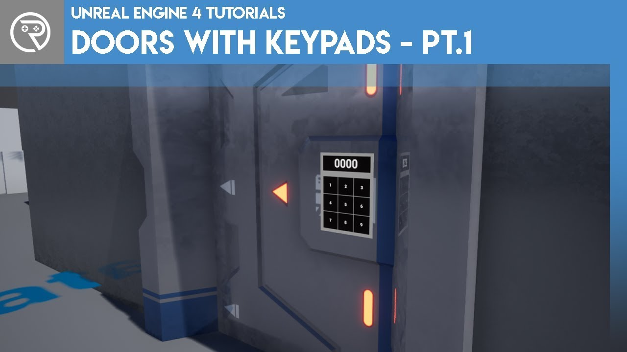 Unreal Engine 4 Tutorial – Door with Keypad Part 1