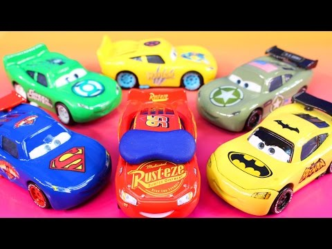 Disney Pixar Cars 3  Lightning McQueen Dreams Jackson Storm Rescue Imaginext Batman Hulk Smash