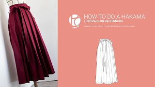 Tutorial Preview How To Do A Hakama | Get A Hakama Pattern!