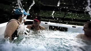 FAMILY-ZEN-FRF плавательный спа (530*235*125) бассейн с противотечением - снят с теста от компании Comfort SPA - бассейны и СПА бассейны, комплектация зон отдыха - видео 2