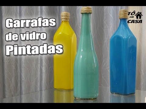 Pintar garrafa por dentro
