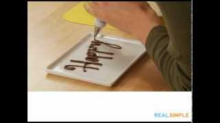 Real Simple How To: Write on a Cake Video
