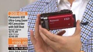 Panasonic HC-V10 HD Camcorder 63X Optical 70X Enhanced Zoom