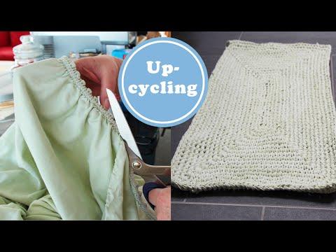 Bettlaken Upcycling | DIY Bändchengarn zum Häkeln oder Stricken