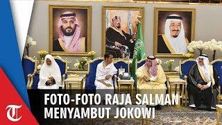Foto-foto Jokowi Disambut Raja Salman di Istana Pribadinya
