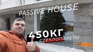 Монтаж окна весом 500 кг, Passive House номер 1 в рес. Молдове,  роллеты для пассивного дома