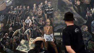 Спасение тайских мальчиков запечатлели на 13-метровой картине