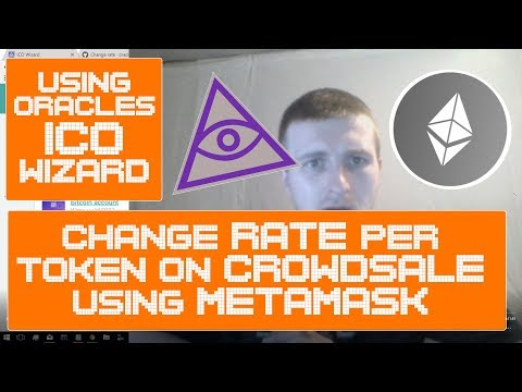 MANAGE ICO Deployed from Oracles ICO Wizard How-to Change Rate of ETH per Tokens