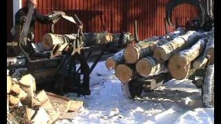 Vedmaskin Testfas 2, Homemade Firewood Processor Test 2