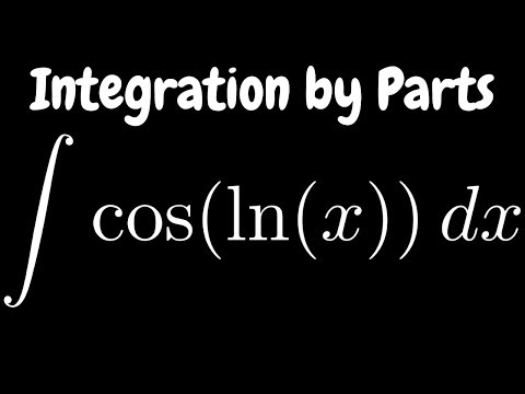 Integration by Parts the Integral of cos(ln(x))