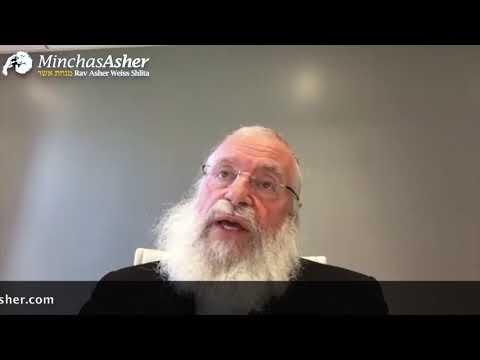 """פרשת חוקת תשפ""""א • הרב אשר וייס"""