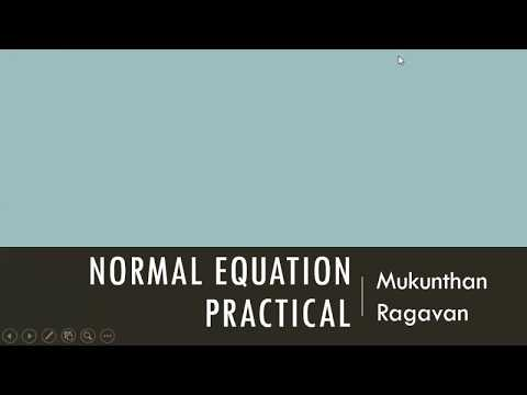 Normal Equation-Practical
