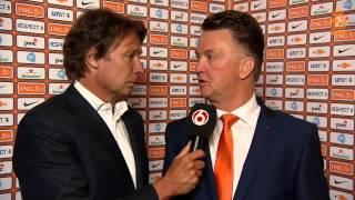 Interview Van Gaal na Nederland - Ecuador