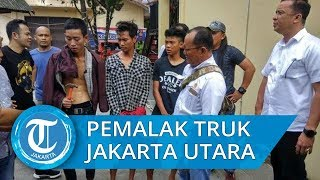 VIDEO: Aksi Sejumlah Pemalak Sopir Truk Berjejer di Jalan Raya Jadi Viral di Medsos