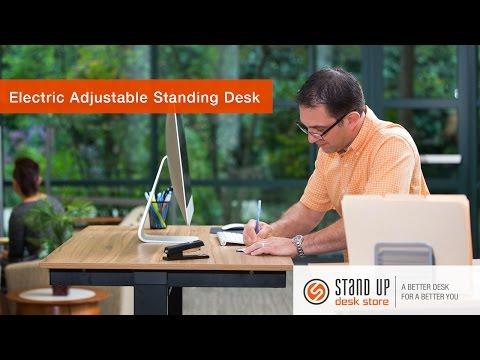 48 electric standing desk stand up desk store. Black Bedroom Furniture Sets. Home Design Ideas