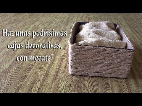 Como hacer Cajas decorativas con mecate