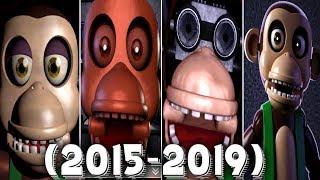 Evolution of Chester in FNAC 1, 2, 3, Remastered (2015 - 2019)