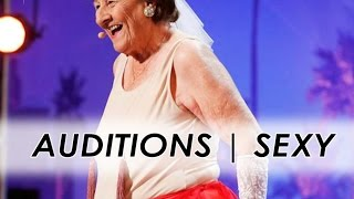 90y-old Dancer Strips to Golden Buzzer   America's Got Talent 2016   Auditions   Episode 6