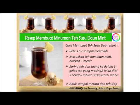 Video Resep Membuat Minuman Teh Susu Daun Mint