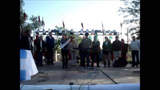 preview picture of video 'Himno Nacional Argentino Expomonte - San Miguel Del Monte Erik - Jenny'
