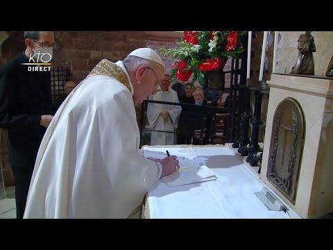 FRATELLI TUTTI : signature de la nouvelle encyclique du pape en direct d'Assise