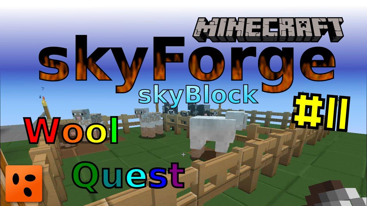Minecraft Skyforge Skyblock #11 | Wool Quest