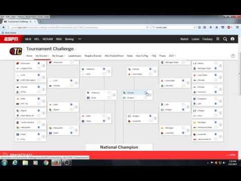 2017 NCAA Tournament Bracket Prediction Picks video