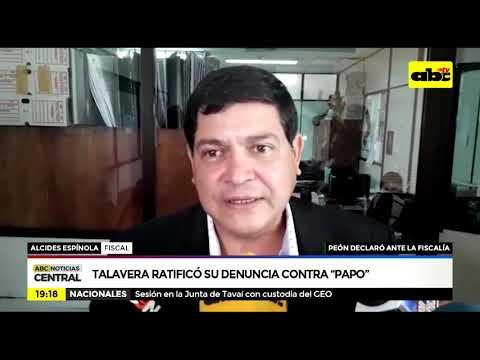 Talavera ratificó su denuncia contra