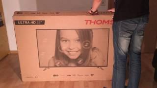 Thomson 55UB6406 UHD/4K TV Unboxing und Erster Eindruck