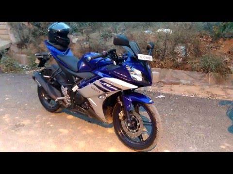 Download Yamaha Yzf R15 V2 0 Revving Blue Walk Around Video