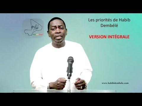 Les priorités du programme de Habib Dembélé