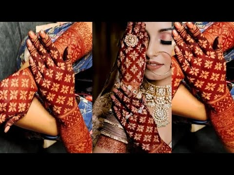 bridal grid mehndi design fot back hand by awesome you