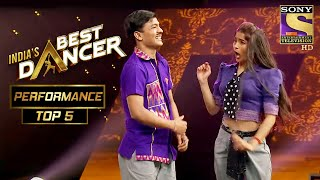 Tiger और Vartika ने किया Jetha और Babita को Copy | India's Best Dancer | Best Of Top 5