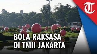 Bola Merah Besar Tiba-tiba Muncul di Taman Mini Indonesia Indah, Ada Apa Sebenarnya?